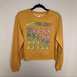 Grateful Dead Long Sleeved Crop Graphic Sweatshirt